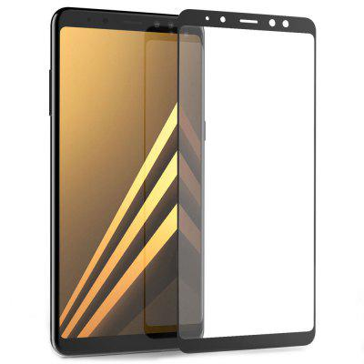 2PCS Screen Protector for Samsung Galaxy A8 Plus 2018 HD 3D Full Coverage Anti-Explosion High Sensitivit Tempered Glass