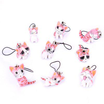 Nine Different Forms of Animals  Pet Gift Toy Small Keychain Keyring 9pcs
