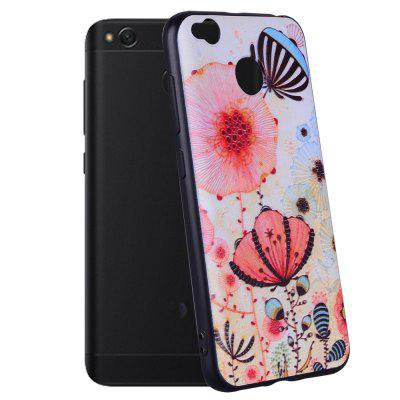 Case For  Xiaomi Redmi 4X Pink Flower Pattern Soft TPU Case