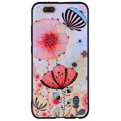 Phone Case For Xiaomi 5X  Pink Flower Design Soft TPU Hand Case