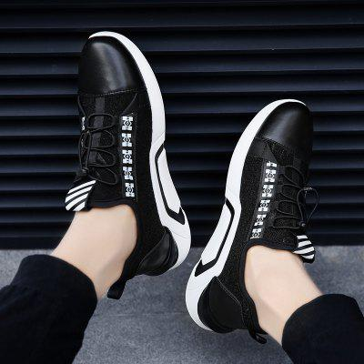 New Black PU Bottom Running ShoesMen's Sneakers<br>New Black PU Bottom Running Shoes<br><br>Available Size: 39-44<br>Closure Type: Lace-Up<br>Feature: Massage<br>Gender: For Men<br>Outsole Material: PU<br>Package Contents: 1xshoes(pair)<br>Package Size(L x W x H): 33.00 x 20.00 x 12.00 cm / 12.99 x 7.87 x 4.72 inches<br>Package weight: 0.6000 kg<br>Pattern Type: Animal Prints<br>Season: Spring/Fall<br>Upper Material: Cloth