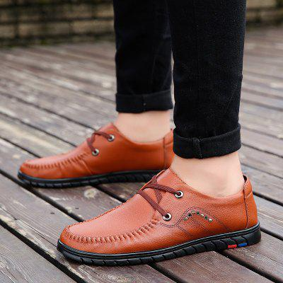 MenS Daily Leisure and Breathable Business Leather ShoesMen's Oxford<br>MenS Daily Leisure and Breathable Business Leather Shoes<br><br>Available Size: 38.39.40.41.42.43<br>Closure Type: Lace-Up<br>Embellishment: None<br>Gender: For Men<br>Outsole Material: Rubber<br>Package Contents: 1 x shoes ?pair?<br>Pattern Type: Others<br>Season: Summer, Spring/Fall<br>Toe Shape: Round Toe<br>Toe Style: Closed Toe<br>Upper Material: Leather<br>Weight: 1.8900kg