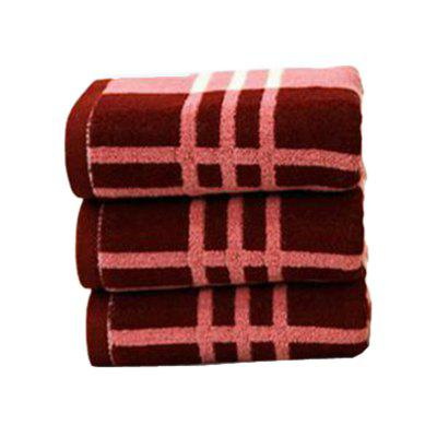 1Pc Face Towel Classic Simple Plaids Pattern Comfy Home Washing Towel