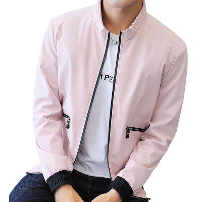 Men's Jacket Spring and Autumn 2018 New Handsome Trend of Self-cultivation  Jacket