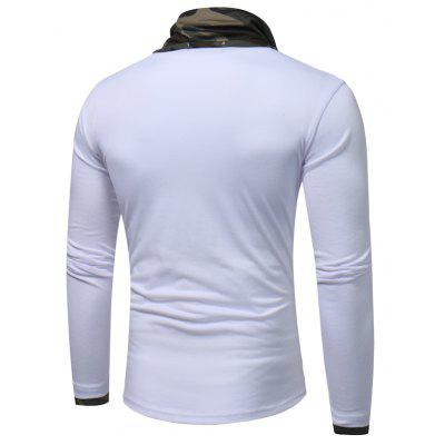 Mens Fashion Camouflage Collar Solid Color Slim Long-Sleeved  Casual Large Size T-ShirtMens Long Sleeves Tees<br>Mens Fashion Camouflage Collar Solid Color Slim Long-Sleeved  Casual Large Size T-Shirt<br><br>Collar: Stand-Up Collar<br>Material: Cotton Blends<br>Package Contents: 1 X T-Shirt<br>Pattern Type: Print<br>Sleeve Length: Full<br>Style: Casual<br>Weight: 0.2500kg