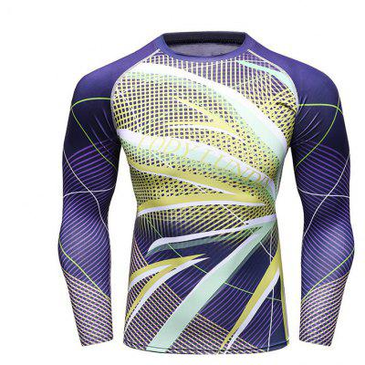 Men's Fast Dry Long Sleeved Fitness Clothes