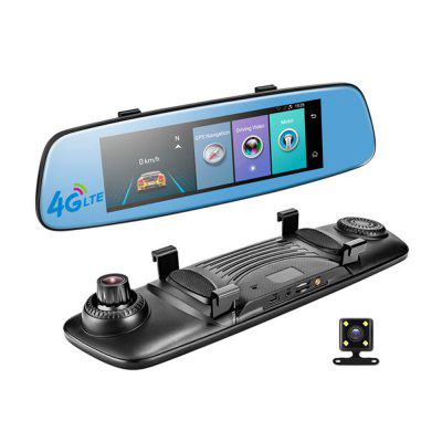 E06 4G Car DVR 7.84 Inch Touchscreen Remote Control Rearview And Android Camera Dual Lens 1080P WI-FI Das