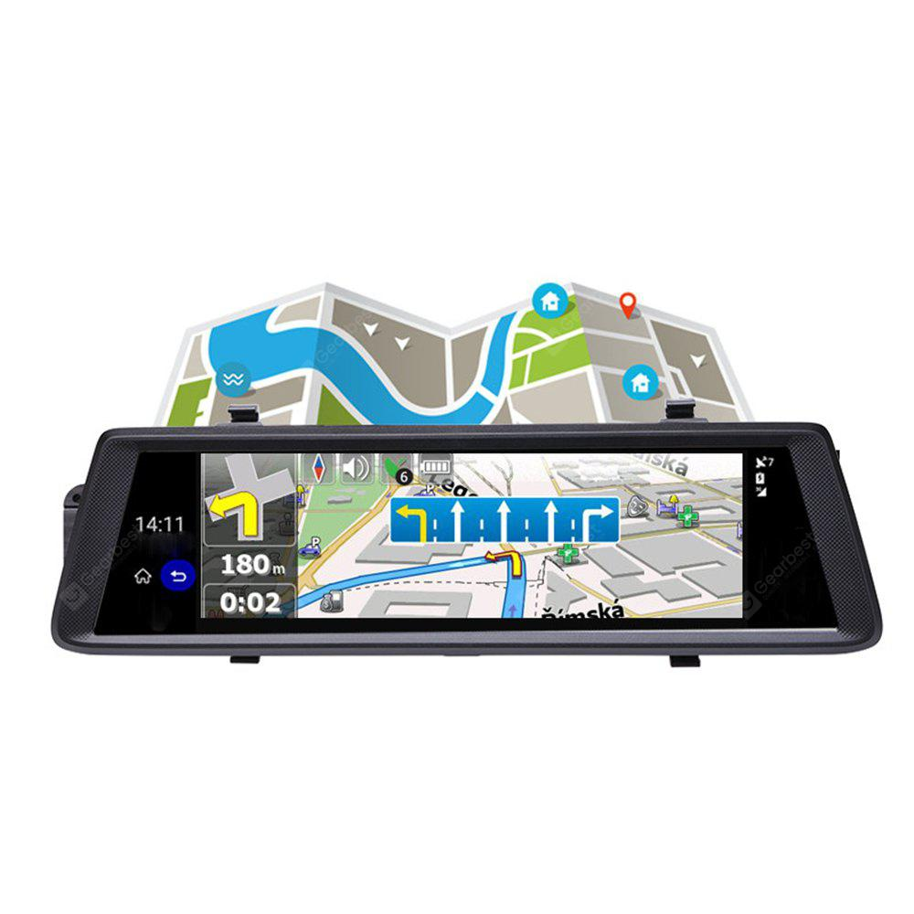 V6 10 Inch Touch Android 5.0 GPS Navigators FHD 1080 P Video Recorder Dvr Mirror WI-FI 3G Camera for Car