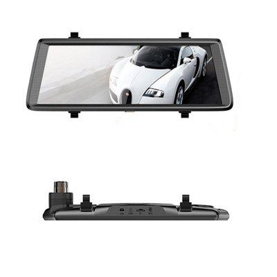 F900 10 Inch Full Mirror Touch Dual Lens FHD 1080P Division Rear View DVR Camera Drive Car Recorder