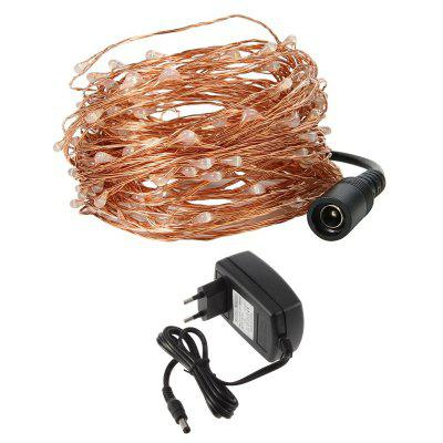 1PC 50M/164.1FT Waterproof Copper Wire 500LEDS LED String Lights for Festival Christmas with Power Adapter AC100-240VLED Strips<br>1PC 50M/164.1FT Waterproof Copper Wire 500LEDS LED String Lights for Festival Christmas with Power Adapter AC100-240V<br><br>Beam Angle: 360 degree<br>Bulb Included: Yes<br>Color Temperature or Wavelength: 5500 - 6500K(White) ;  2700 - 3500KK(Warm White) ; 700 - 635nm (Red); 650 - 490nm (Green); 490 - 440 nm( Blue)<br>Features: Festival Lighting<br>LED Quantity: 500<br>Length ( m ): 50<br>Light color: Warm White, White, Blue, Multi Color<br>Light Source: Energy Saving,LED Light<br>Light Source Color: White,Blue,Warm White,Multi Color<br>Package Content: 1 x LED String Light , 1 x Power Adapter<br>Package size (L x W x H): 20.00 x 15.00 x 3.50 cm / 7.87 x 5.91 x 1.38 inches<br>Package weight: 0.2220 kg<br>Power Supply: Power Adapter,100-240V<br>Product size (L x W x H): 10.00 x 8.00 x 3.00 cm / 3.94 x 3.15 x 1.18 inches<br>Product weight: 0.2170 kg<br>Type: String Lights, Light Sets, Flexible LED Light Strips, Waterproof<br>Voltage: 100 - 240V<br>Wattage (W): 21W