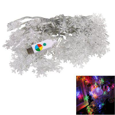 1PC USB Power 10M 60LEDS Led String Lights 8MODES Snowflake Light Post Christmas New Year Wedding Party Bedroom DC5V