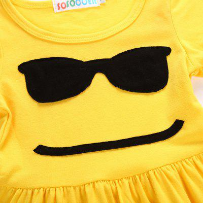 SOSOCOER Girls Dresses Yellow Smiling Face with A Short Sleeved SkirtGirls dresses<br>SOSOCOER Girls Dresses Yellow Smiling Face with A Short Sleeved Skirt<br><br>Brand: SOSOCOER<br>Dresses Length: Knee-Length<br>Material: Cotton<br>Neckline: Round Collar<br>Package Contents: 1 x Dress<br>Pattern Type: Face<br>Season: Spring, Summer, Fall<br>Silhouette: A-Line<br>Sleeve Length: Short Sleeves<br>Style: British<br>Weight: 0.1600kg<br>With Belt: No