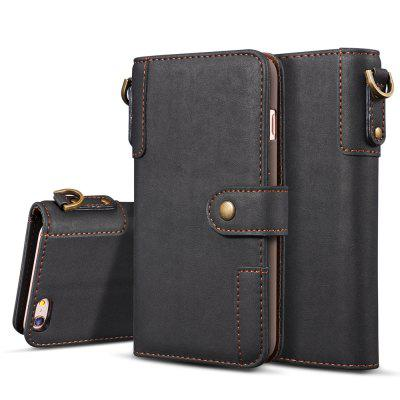 Cover Case for iPhone 7 / 8 Retro Cowhide Material Leather with Sling