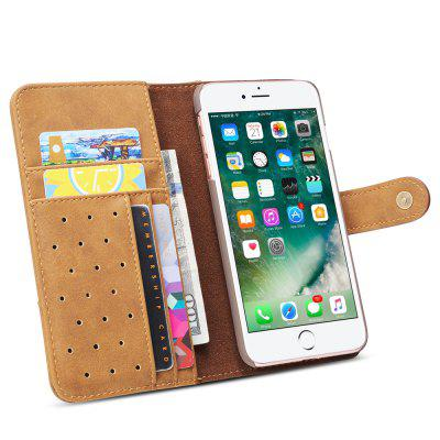 Cover Case for iPhone 7 Plus / 8 Plus Retro Cowhide Material Leather with SlingiPhone Cases/Covers<br>Cover Case for iPhone 7 Plus / 8 Plus Retro Cowhide Material Leather with Sling<br><br>Compatible for Apple: iPhone 7 Plus, iPhone 8 Plus<br>Features: Cases with Stand, With Credit Card Holder, Anti-knock, Dirt-resistant, FullBody Cases<br>Material: TPU, PU Leather<br>Package Contents: 1 x Phone Case<br>Package size (L x W x H): 20.00 x 10.00 x 3.00 cm / 7.87 x 3.94 x 1.18 inches<br>Package weight: 0.0660 kg<br>Style: Vintage, Leather, Solid Color