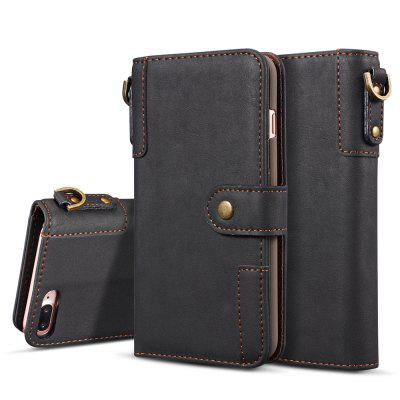Cover Case for iPhone 7 Plus / 8 Plus Retro Cowhide Material Leather with Sling