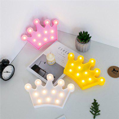 Crown Shape Night Light Battery Powered Sweet Marquee Letter for Baby Bedroom Christmas Decoration Kid GiftDecorative Lights<br>Crown Shape Night Light Battery Powered Sweet Marquee Letter for Baby Bedroom Christmas Decoration Kid Gift<br><br>Material: Plastic<br>Package Contents: 1 x Night Light<br>Package size (L x W x H): 32.00 x 23.00 x 4.00 cm / 12.6 x 9.06 x 1.57 inches<br>Package weight: 0.2000 kg<br>Power Supply: Battery<br>Product size (L x W x H): 29.00 x 21.50 x 2.00 cm / 11.42 x 8.46 x 0.79 inches