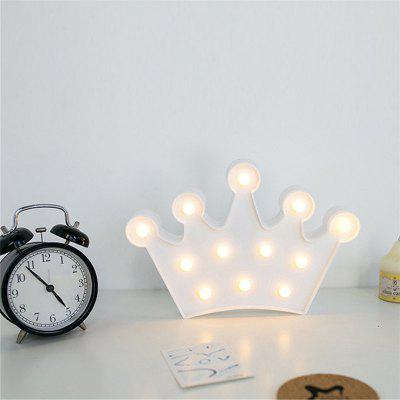 Crown Shape Night Light Battery Powered Sweet Marquee Letter for Baby Bedroom Christmas Decoration Kid Gift