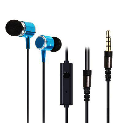 In-ear Wired with Wheat Stereo Metal Bass Headphones
