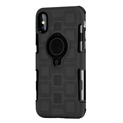 Cover Case for iPhone X Car Holder Stand Magnetic Suction Finger Ring PC+TPU Armor