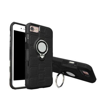 Cover Case for iPhone 8 / 7 / 6 Car Holder Stand Magnetic Suction Finger Ring PC+TPU Armor