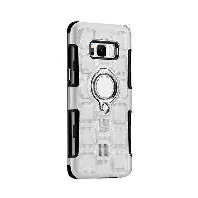 Cover Case for Samsung Galaxy S8 Plus Car Holder Stand Magnetic Suction Finger Ring PC+TPU Armor