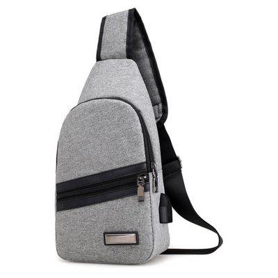 Business Casual Chest Pack for Men  Shoulder Bag with USB interfaceCrossbody Bags<br>Business Casual Chest Pack for Men  Shoulder Bag with USB interface<br><br>Closure Type: Zipper<br>Gender: For Men<br>Handbag Type: Shoulder bag<br>Hardness: Soft<br>Interior: Cell Phone Pocket, Interior Slot Pocket<br>Main Material: Nylon<br>Occasion: Business<br>Package Contents: 1 x Chest Pack<br>Pattern Type: Solid<br>Size(CM)(L*W*H): 31 x 16 x 6 cm<br>Style: Casual<br>Weight: 0.6528kg