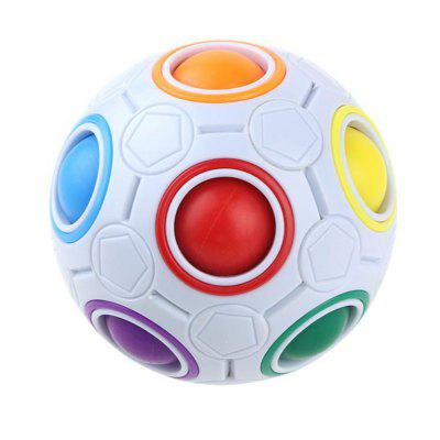 Puzzle Decompression Magic Rainbow Ball Creative Mini Football Rubik Cube