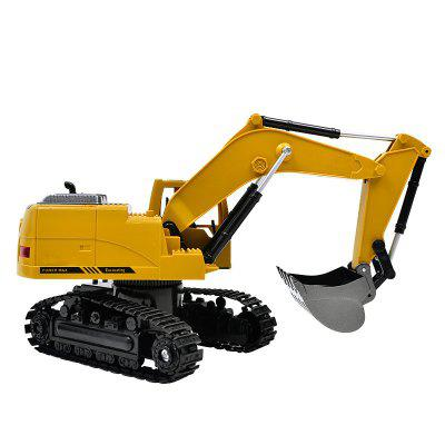 1:24 2.4GHz  8CH RC Alloy ExcavatorRC Cars<br>1:24 2.4GHz  8CH RC Alloy Excavator<br><br>Age: Above 8 years old<br>Car Power: Built-in rechargeable battery<br>Channel: 8-Channels<br>Charging Time: 240 minutes<br>Control Distance: 30-80m<br>Detailed Control Distance: About 50m<br>Features: Radio Control<br>Functions: Turn left/right, 680 degree rotation, Forward/backward, With music<br>Material: Alloy, Plastic, Electronic Components<br>Motor Type: Brushless Motor<br>Package Contents: 1 x RC Excavator ( Battery Included ), 1 x Transmitter, 1 x USB Cable<br>Package size (L x W x H): 39.00 x 14.50 x 29.30 cm / 15.35 x 5.71 x 11.54 inches<br>Package weight: 2.1000 kg<br>Product size (L x W x H): 31.00 x 10.00 x 19.00 cm / 12.2 x 3.94 x 7.48 inches<br>Product weight: 1.9000 kg<br>Proportion: 1:24<br>Racing Time: 15 - 20min<br>Remote Control: 2.4GHz Wireless Remote Control<br>Transmitter Power: 2 x 1.5V AA battery (not included)<br>Type: Engineering Car