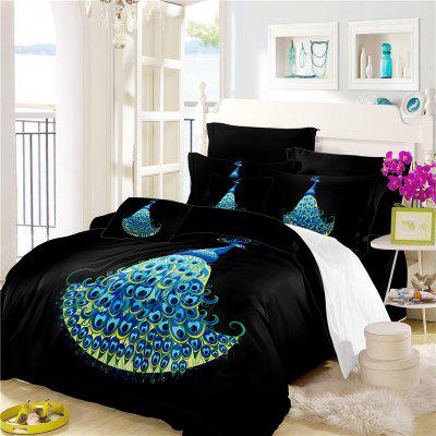 Embroidery Peacock Feather Series Bedding SK11 Three Pieces