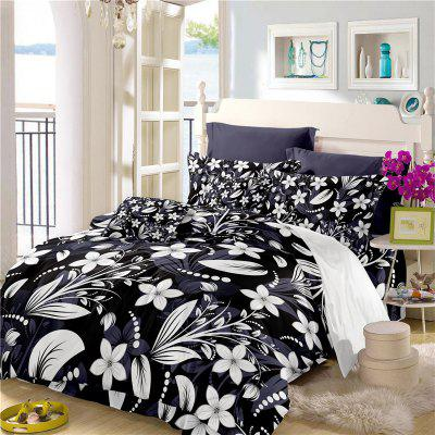 Deluxe Classic Elegant Royal Bedding Activity Printing and Dyeing Fine Jacquard Bedding Three Pieces Dream Flower Sk08