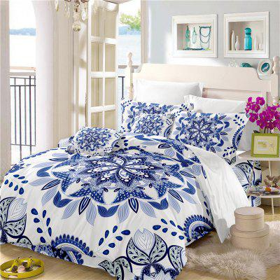3Pcs Deluxe Classic Elegant Royal Bedding Set Activity Printing and Dyeing Fine Jacquard Sk09