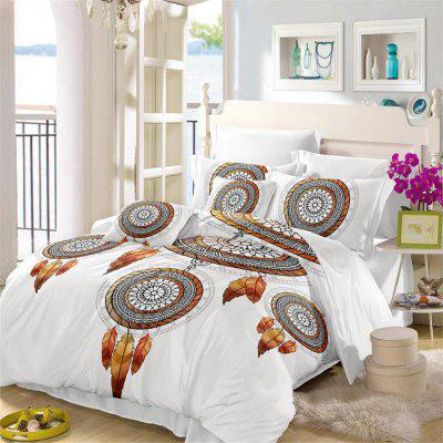 Embroidered Feather Tribal Pattern Series Three Pieces Bedding Tribes AS11