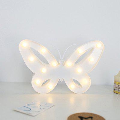 Creative Butterfly Modeling Lamp LED Lights Children Room Dormitory DecorationNovelty lighting<br>Creative Butterfly Modeling Lamp LED Lights Children Room Dormitory Decoration<br><br>Material: PVC (Polyvinylchlorid)<br>Package Contents: 1 x Night Light<br>Package size (L x W x H): 26.00 x 4.00 x 17.00 cm / 10.24 x 1.57 x 6.69 inches<br>Package weight: 0.2000 kg<br>Power Source: AA<br>Product size (L x W x H): 25.60 x 3.50 x 16.50 cm / 10.08 x 1.38 x 6.5 inches<br>Suitable for: Home Decoration