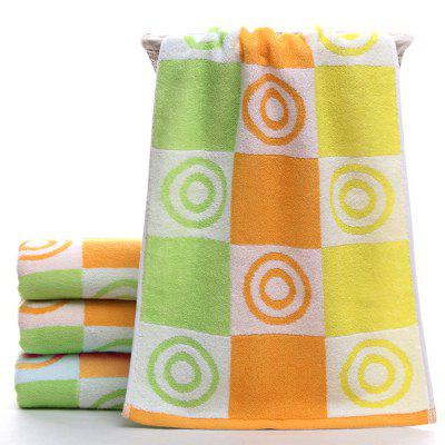 Pure Cotton New Style Creative Colorful Circle Thick Water Absorption Towel