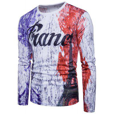 Casual Fashion Personality Digital Printing Ink France Letter Long Sleeved T-ShirtMens Long Sleeves Tees<br>Casual Fashion Personality Digital Printing Ink France Letter Long Sleeved T-Shirt<br><br>Collar: Round Neck<br>Material: Cotton<br>Package Contents: 1xT-shirt<br>Pattern Type: Letter<br>Sleeve Length: Full<br>Style: Active<br>Weight: 0.3000kg