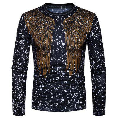 New Spring Abstract Wings Broken Point Long Sleeved T-Shirt