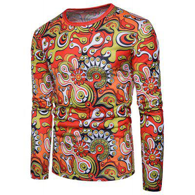 Spring Trade New Personality Print Long Sleeve T-Shirt