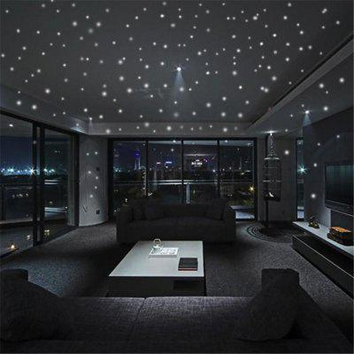 253pcs Luminous Glow Dark Moon Round Dot Wall Stickers Home Ceiling Decor