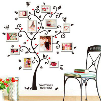 DIY Family Photo Frame Tree Wall Sticker Home DecorWall Stickers<br>DIY Family Photo Frame Tree Wall Sticker Home Decor<br><br>Function: 3D Effect<br>Material: Vinyl(PVC)<br>Package Contents: 1 x Wall Sticker<br>Package size (L x W x H): 30.00 x 3.00 x 3.00 cm / 11.81 x 1.18 x 1.18 inches<br>Package weight: 0.0600 kg<br>Quantity: 1<br>Subjects: Fashion,Abstract,Landscape<br>Suitable Space: Bedroom,Office,Hotel<br>Type: 3D Wall Sticker, Plane Wall Sticker