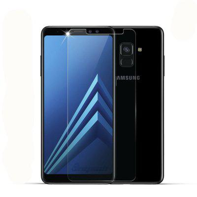 Screen Protector for Samsung Galaxy A8 Plus 2018 High Sensitivit HD Full Coverage High Clear Premium Tempered Glass