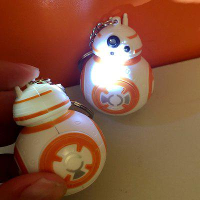 BB8 BB-8 R2D2 Droid Robot LED Keychain