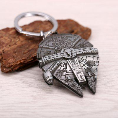 Replica HD Spacecraft Space Ship Model Metal Key Ring Keychain Holder metal key holder organizer 18 ring set