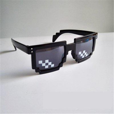 Mosaic Pixel Sunglasses GlassesNovelty Toys<br>Mosaic Pixel Sunglasses Glasses<br><br>Features: Creative Toy<br>Materials: Plastic<br>Package Contents: 1 x Pair of Glasses<br>Package size: 15.00 x 7.00 x 3.00 cm / 5.91 x 2.76 x 1.18 inches<br>Package weight: 0.2000 kg<br>Product size: 10.00 x 5.00 x 1.00 cm / 3.94 x 1.97 x 0.39 inches<br>Series: Fashion<br>Theme: Other