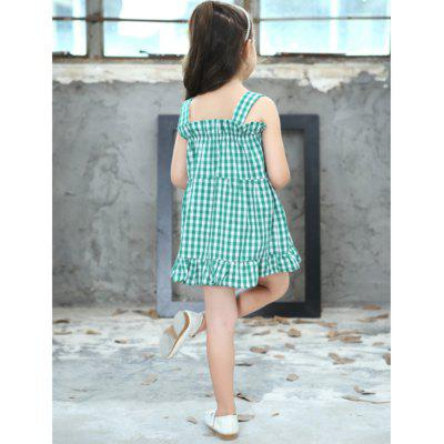 Girl Pleat Cotton Sling DressGirls dresses<br>Girl Pleat Cotton Sling Dress<br><br>Dresses Length: Knee-Length<br>Material: Cotton<br>Package Contents: 1 x Dress<br>Pattern Type: Plaid<br>Silhouette: A-Line<br>Style: British<br>Weight: 0.1200kg<br>With Belt: No