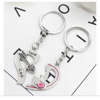 Arrow Heart Style Decoration Metal Key Chain 2PCSKey Chains<br>Arrow Heart Style Decoration Metal Key Chain 2PCS<br><br>Design Style: Romantic<br>Gender: Boys,Girls<br>Materials: Metal<br>Package Contents: 2 x Key Ring<br>Package size: 5.00 x 5.00 x 5.00 cm / 1.97 x 1.97 x 1.97 inches<br>Package weight: 0.0170 kg<br>Product size: 9.00 x 3.00 x 1.00 cm / 3.54 x 1.18 x 0.39 inches<br>Stem From: South Korea<br>Theme: Love