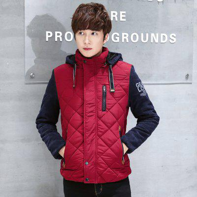 Men Hats Warm and Leisure Lattices Splicing Cotton Clothes CoatMens Jackets &amp; Coats<br>Men Hats Warm and Leisure Lattices Splicing Cotton Clothes Coat<br><br>Clothes Type: Padded<br>M8888HX: None<br>Materials: Polyester<br>Package Content: 1 x  Coat<br>Package size (L x W x H): 1.00 x 1.00 x 1.00 cm / 0.39 x 0.39 x 0.39 inches<br>Package weight: 1.2000 kg<br>Size1: M,L,XL,2XL,3XL