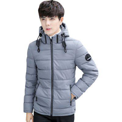 Men's Short Casual Cotton Padded Coat