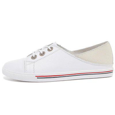 Cowhide Belt Shallow ShoesLoafers<br>Cowhide Belt Shallow Shoes<br><br>Available Size: 34-40<br>Closure Type: Lace-Up<br>Embellishment: None<br>Gender: For Women<br>Occasion: Casual<br>Outsole Material: Rubber<br>Package Contents: 1x shoes (pair)<br>Pattern Type: Solid<br>Season: Summer, Spring/Fall<br>Toe Shape: Round Toe<br>Toe Style: Closed Toe<br>Upper Material: Cow Split<br>Weight: 1.6896kg
