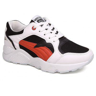 Net Surface Breathable and Thick Bottom Leisure Sports Shoes
