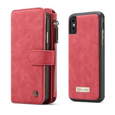 CaseMe for iPhone X Wallet Case with Detachable 2 in 1 Slim TPU PC Cover Luxury Handmade PU Leather 14 Card Slots